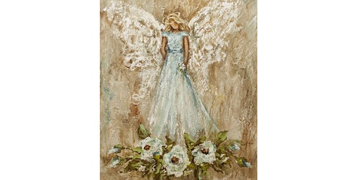 Textured Angel Painting
