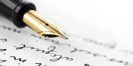 Atelier d'écriture pour les futurs auteurs billets