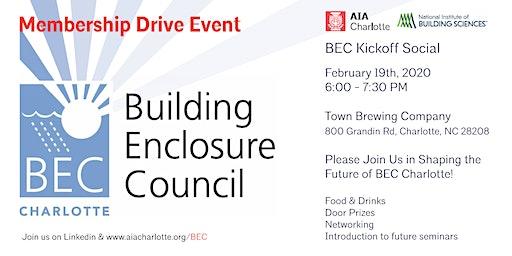 Building Enclosure Council Charlotte - Kickoff Social