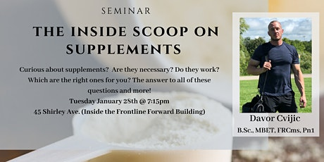 The Inside Scoop on Supplements tickets