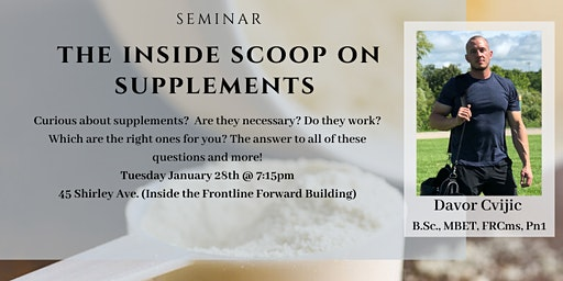 The Inside Scoop on Supplements