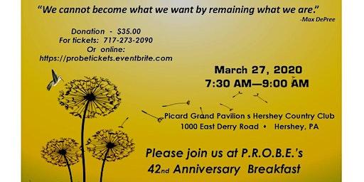 P.R.O.B.E.'s 42nd Anniversary Breakfast