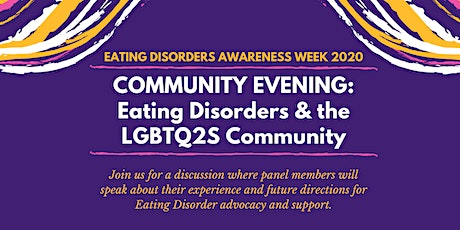 Community Evening: Eating Disorders and the LGBTQ2S community tickets