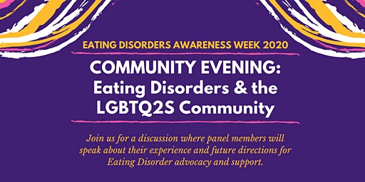 Community Evening: Eating Disorders and the LGBTQ2S community