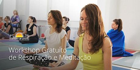 Workshop de Respiração e Meditação - uma introdução gratuita ao curso Arte de Viver Happiness Program em Caminho das Arvores ingressos