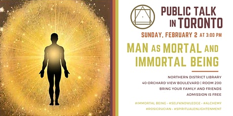 Public Talk in Toronto - Man as mortal and immortal being tickets