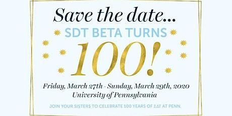 Sigma Delta Tau Beta Centennial tickets