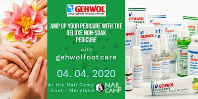 AMP UP Your Pedicure Service with the DELUXE NON-SOAK MED PEDICURE GEHWOL Foot Care at the Nail Camp East