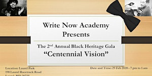 Write Now Academy Presents The 2nd Annual Black...