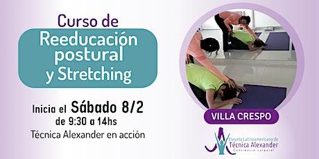 Curso de  Stretching y Reeducación postural basado en Técnica Alexander entradas