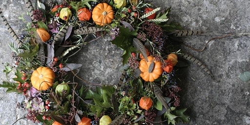 Autumn Mossed Door Wreaths with Bramble & Wild