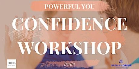 Confidence Workshop tickets