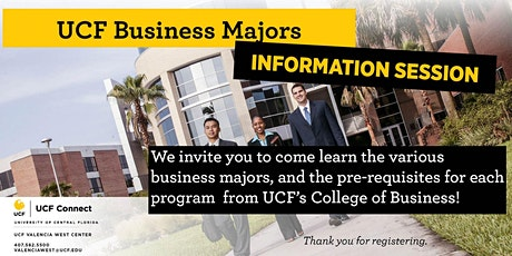 UCF Information Session: Business Majors tickets