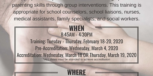 Triple P Group Facilitator Training [February 18-20, 2020]