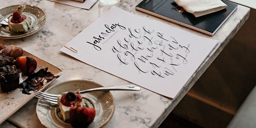 A Galentine's Day Calligraphy Party