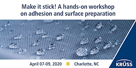 Make it stick! A hands-on workshop on adhesion and surface preparation tickets