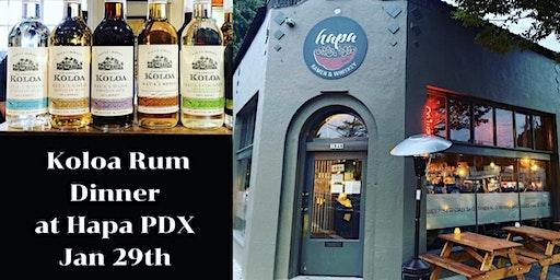 Koloa Rum Dinner at Hapa PDX