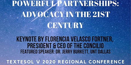 TexTESOL V Regional Conference 2020-Sponsors and Exhibitors ONLY tickets