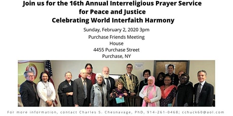 The 16th Annual Interreligious Prayer Service for Peace and Justice Celebrating World Interfaith Harmony tickets