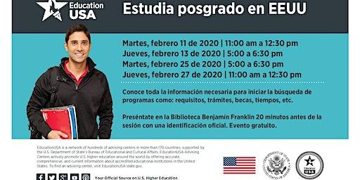 Febrero: Estudia Posgrado (Maestría o Doctorado) en EEUU