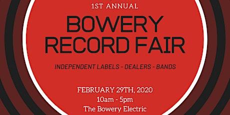 1st Annual Bowery Record Fair tickets
