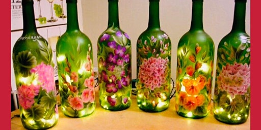 DIY Wine Bottle Painting with Lights Paint and Sip. Includes Wine Tastings