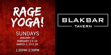 Rage Yoga at BLAKBAR - Winter Session 2020 tickets