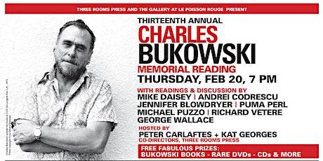 Three Rooms Press Presents: 13th Annual CHARLES BUKOWSKI Memorial Reading tickets
