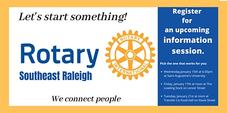Southeast Raleigh Rotary Club - Information Sessions biglietti