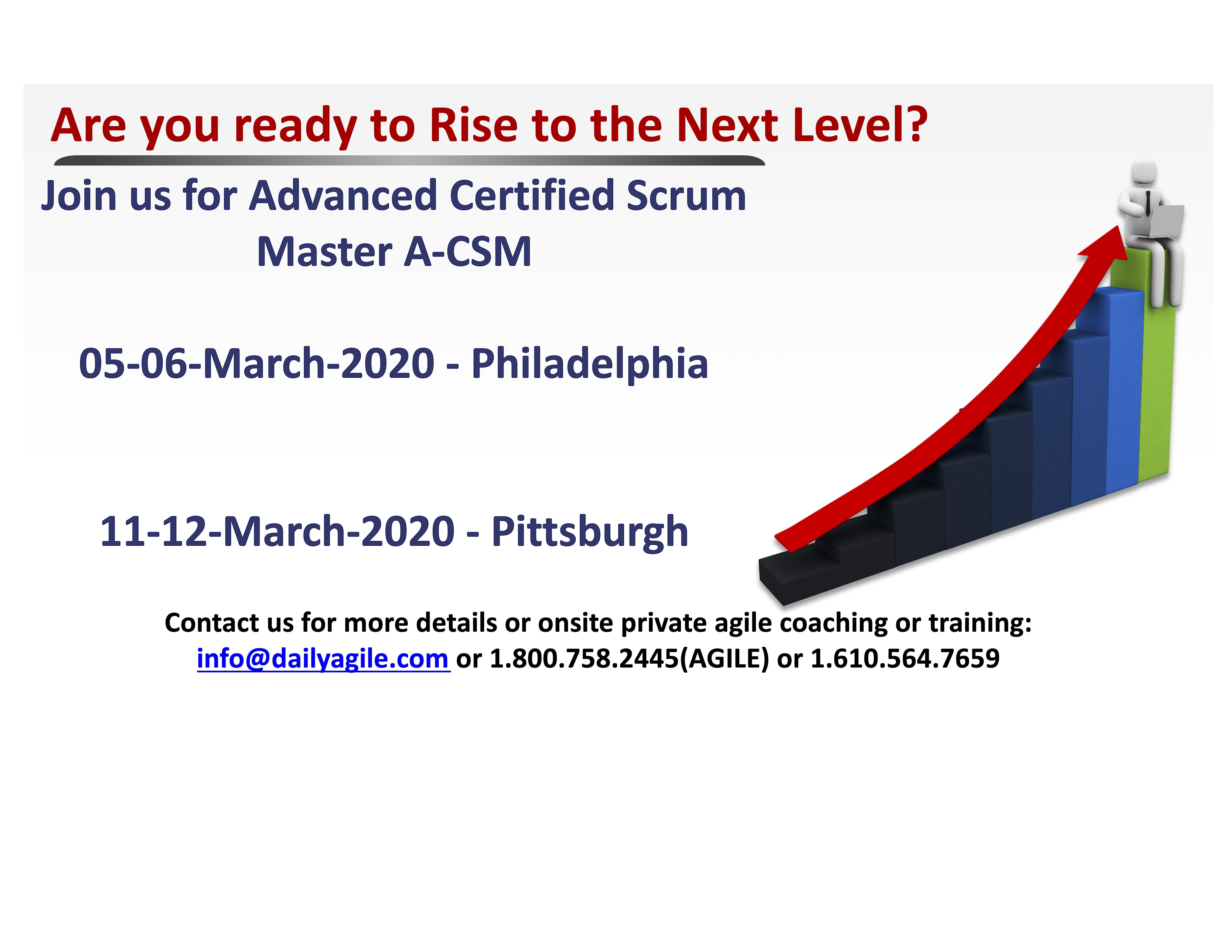 Advanced Certified Scrum Master (A-CSM) in Malvern/Philadelphia, PA
