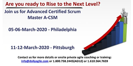 Advanced Certified Scrum Master (A-CSM) in Malvern/Philadelphia, PA tickets