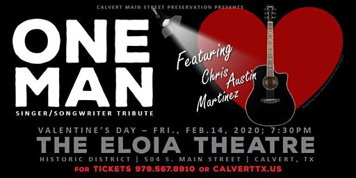 One Man - Singer/Songwriter Tribute  on stage at The Eloia, Valentine's Day