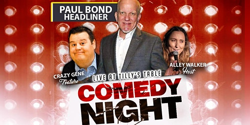 Comedy Night with Headliner  Paul Bond