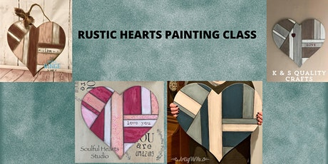 Rustic Heart Painting Class tickets