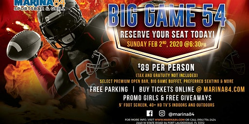 Big Game 54 Watch Party - Calling All True Football Fans