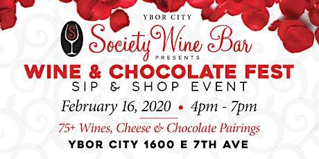 Ybor City Wine Bar: 2020 Wine & Chocolate - Sip & Shop Event tickets