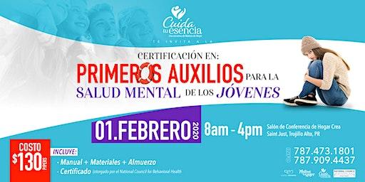 Certificacion: Primeros Auxilios en Salud Mental para Jovenes