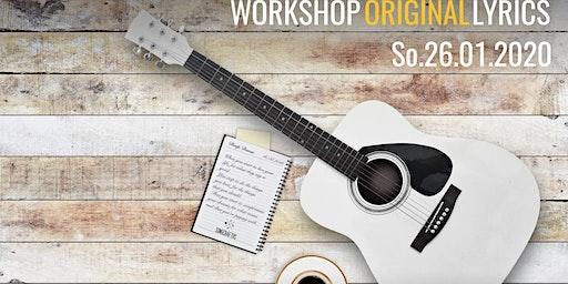 "Songwriting Workshop Berlin   ""ORIGINAL LYRICS""   So. 26. 01. 2020"
