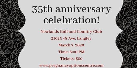 Pregnancy Options 35th Anniversary Dinner  tickets