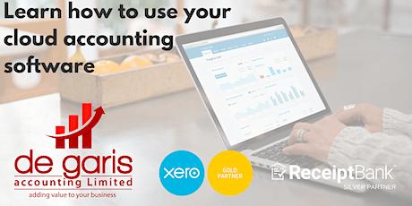 XERO training with de garis accounting Ltd tickets