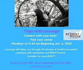 ONLINE Yoga with Lavanga VIA ZOOM tickets