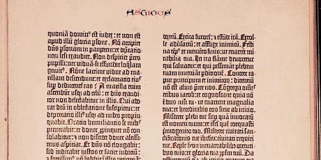 Dr. Erik Kwakkel: The Gutenberg Bible: innovation or imitation? tickets