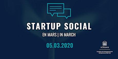 Startup Social: en mars | in March billets
