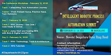 WORLD INTELLIGENT ROBOTIC PROCESS AUTOMATION SUMMIT tickets