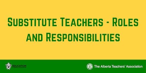 ED WEEK Substitute Teachers: Roles and Responsibilities