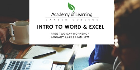 Excel & Word: An Introduction tickets