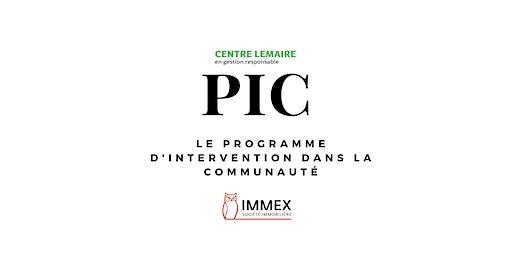 Conférence de presse: lancement des activités du Programme d'intervention dans la communauté du Centre Lemaire, en partenariat avec IMMEX, Société immobilière