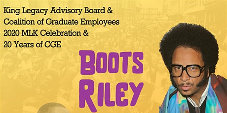Boots Riley Celebration of MLK Jr & CGE 20th Anniversary tickets
