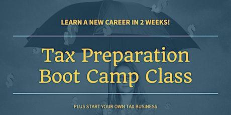 Tax Preparation Boot Camp Class tickets