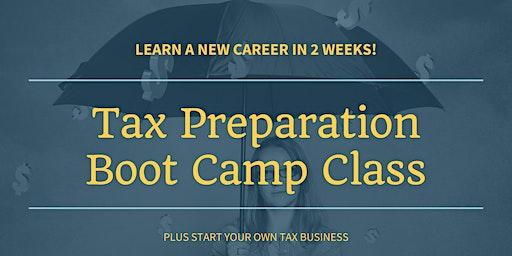 Tax Preparation Boot Camp Class